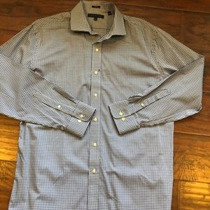 Tommy Hilfiger mens L blue/white shirt